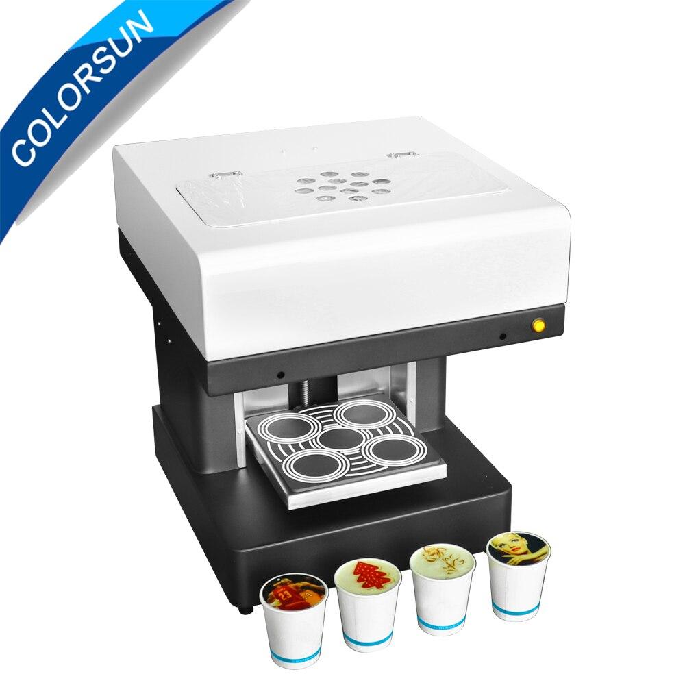 Colorsun Automatique 4 tasses mise à niveau Café imprimante bricolage 3D Latte art Café machine imprimante avec de l'encre comestible
