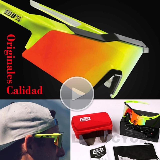 Óculos De Sol Dos Homens originais de Qualidade 100 SpeedCraft Andar de Bicicleta Esporte Óculos De Sol Óculos de Lente óculos De Sol TR90 Óculos Eyewear Oculos de sol Gafas 2017