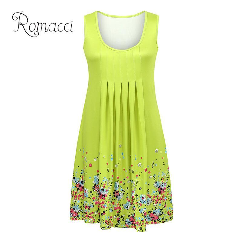 16 Women's Summer 2019 Beach Floral Cotton Sleeveless Tunic Shift Mini Dress 10