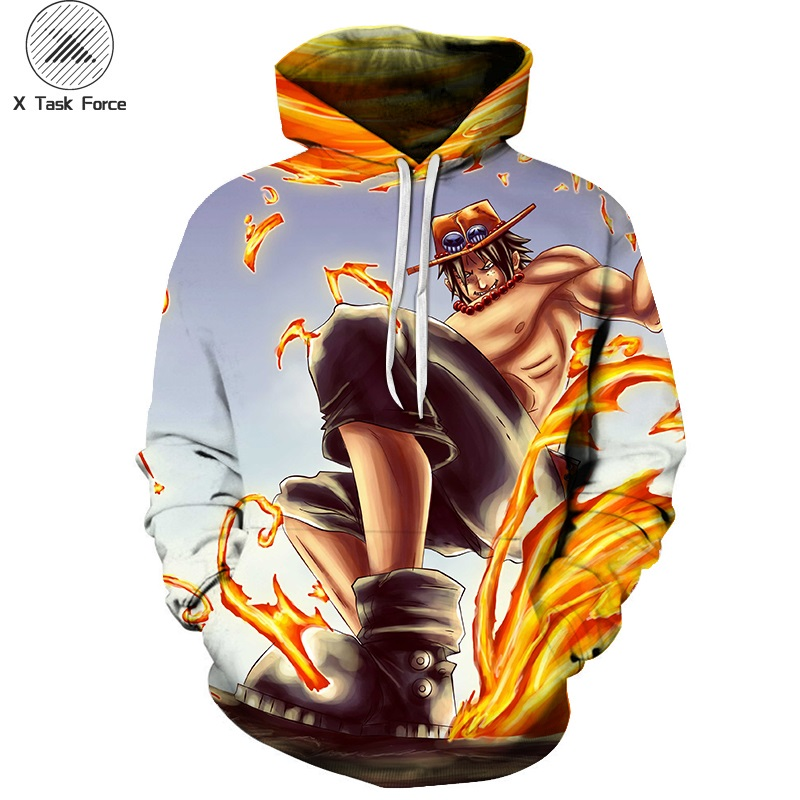 Shock-Resistant And Antimagnetic Men's Clothing Ingenious New Hip Hop Fashion Hoodies Anime One Piece Monkey D Luffy 3d Print Mens Womens Sweatshirt Crewneck Hoodie Tops Plus Size S-6xl Waterproof