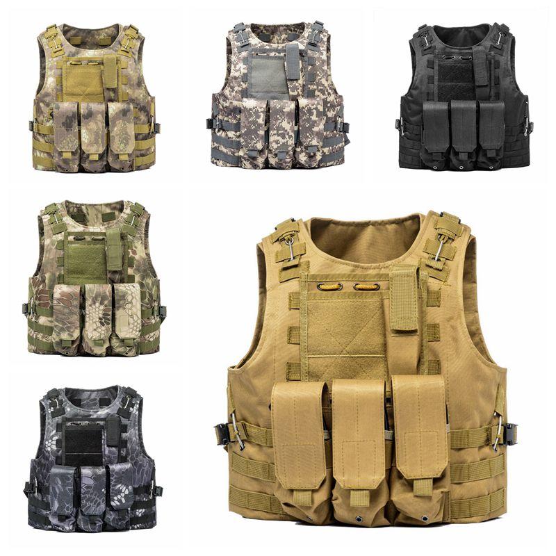 Tactical Vest Amphibious Battle Military Molle Waistcoat Combat Assault Plate Carrier Vest Hunting Protection Vest Camouflage цена