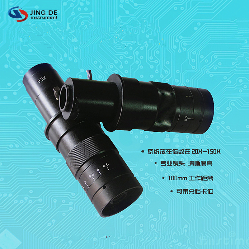 ФОТО Video Microscope 7-45x c-Mount Lens Electron Microscope Cell Phone Repair Zoom Lens Material Diagnostic Tool Free shipping