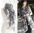 Лето супер мягкая жидкости большой кешью шарф кондиционируемый мыс солнце шелк шарф женское