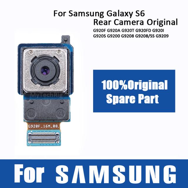 Para samsung galaxy s6 câmera traseira original; traseira enfrentando módulo da câmera para galaxy s6 g920 g920f/a/t/fd/i