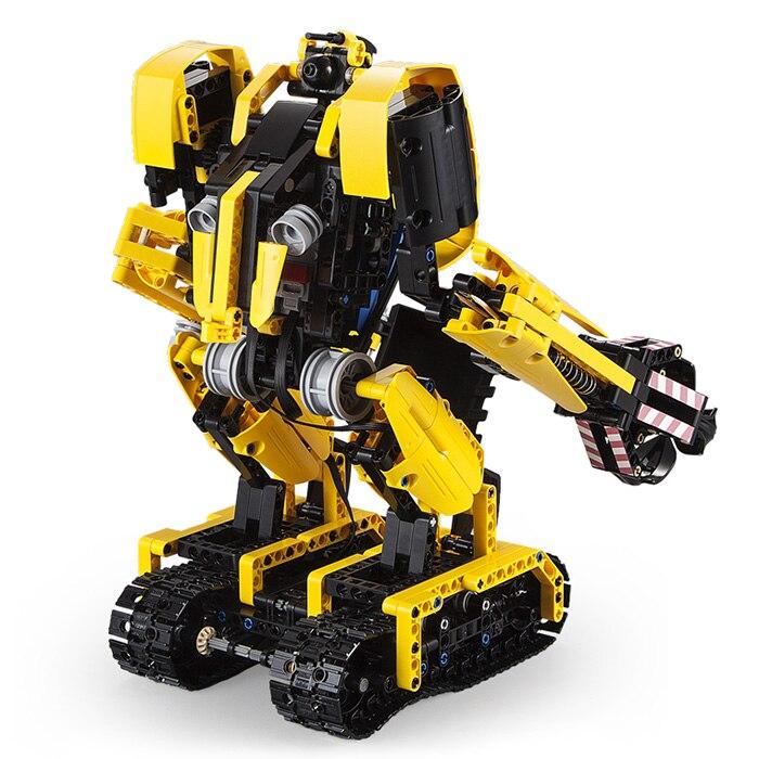 CaDA C51026 blocs mégalithique Robot pelle intelligente RC bloc de construction jouet 930 pièces quatre roues motrices jouets cadeaux pour enfants