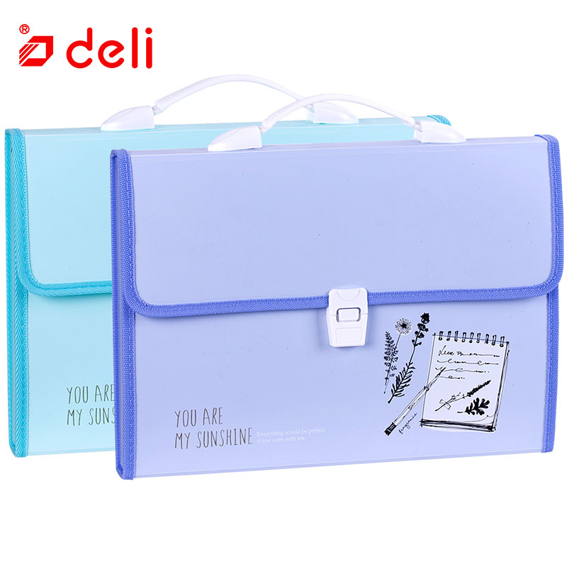 Deli Waterproof Document Bag A4 File Folder Stationery Filing Production Document Organizers Office School Supplies 330x255x35mm