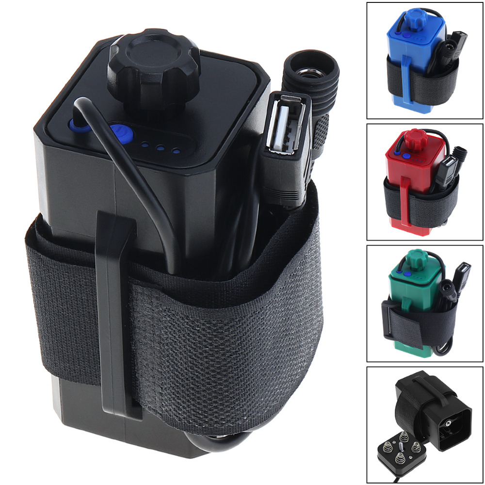 Best price <font><b>18650</b></font> Battery Case <font><b>Box</b></font> Practical Bicycle <font><b>Bike</b></font> LED Light Waterproof Battery Case <font><b>Box</b></font> with USB Interface 8.4V 4x18650 image