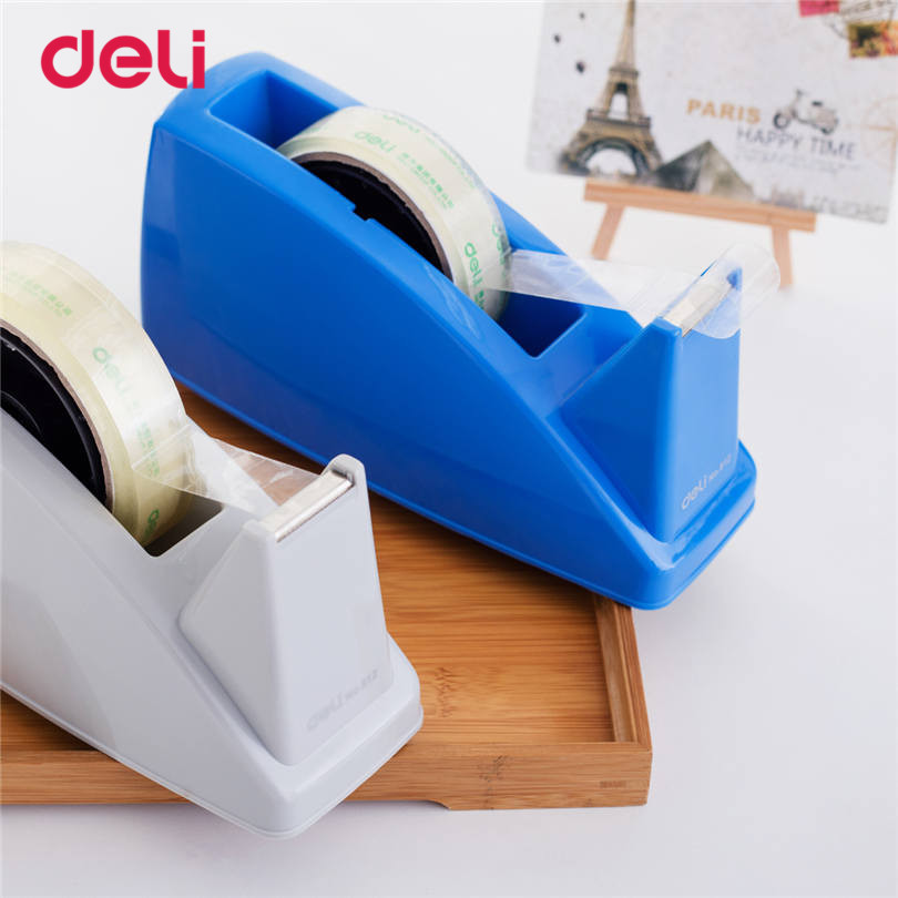 Deli 1pcs Practical Plastic Adhesive Tape cutter tape Dispenser Office Desktop carton supplies Scotch Tape Cutter size 24mm kitmmmc60stpac103637 value kit scotch value desktop tape dispenser mmmc60st and pacon riverside construction paper pac103637