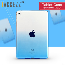 !ACCEZZ For Apple iPad Mini 1/2/3/4 Case Ultra Thin 7.9 inch Tablet Soft Silicone Fashion Protection Anti-Dust Smart Clear Cover стоимость
