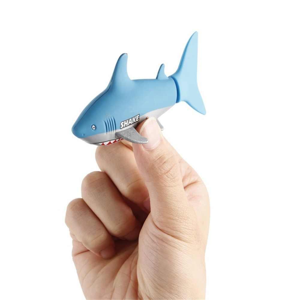 Mini RC เรือดำน้ำ 4 CH Remote ขนาดเล็กฉลาม USB รีโมทคอนโทรลของเล่นปลาเรือของขวัญคริสต์มาสที่ดีที่สุดสำหรับเด็กเด็ก