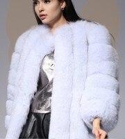Для женщин высокое качество Искусственный мех в полоску длинные Длина Куртка Новинка 2017 года поступления