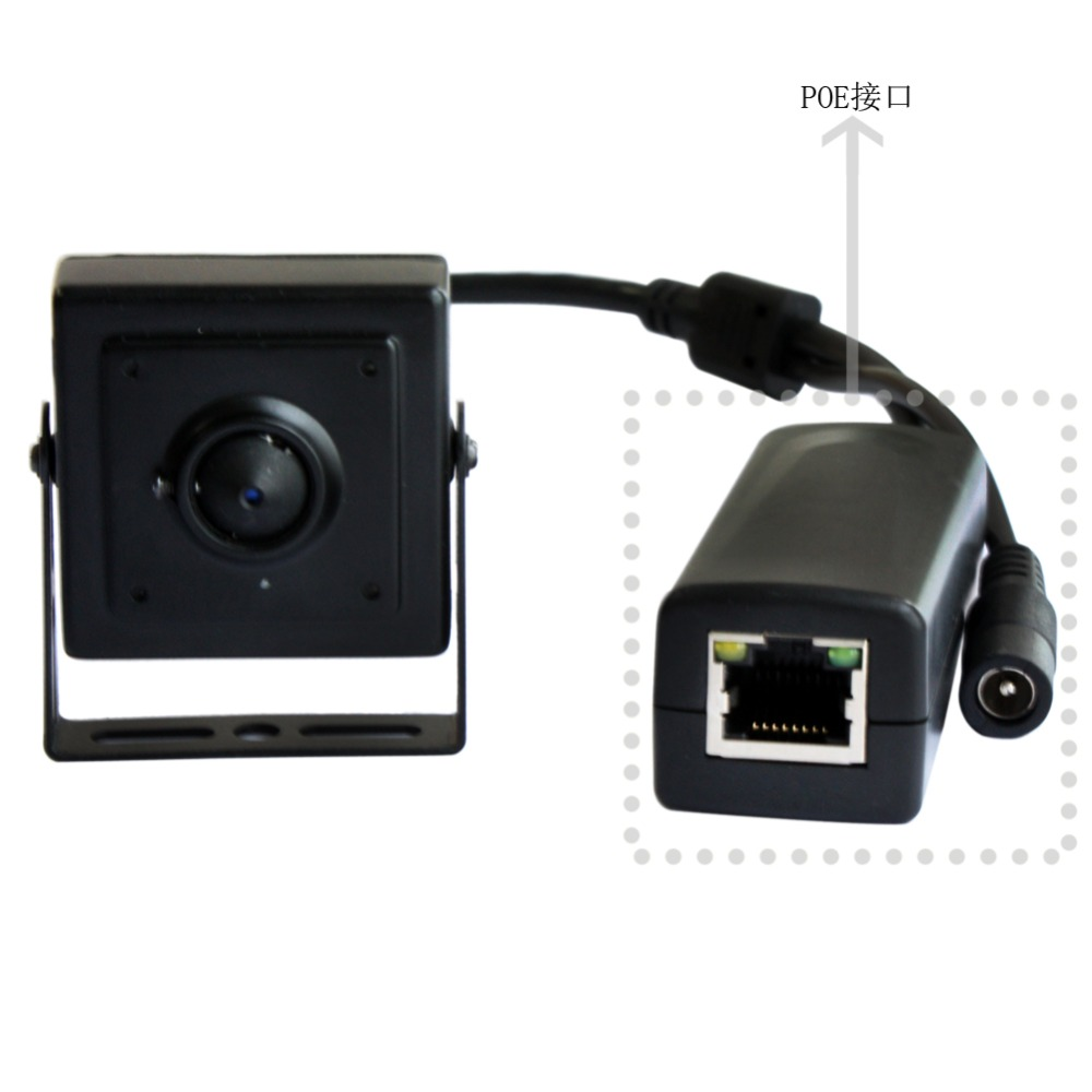 ФОТО 720P HD 37mm lens RJ45 network  mini cctv surveillance POE ip camera onvif p2p for mobile phone remote view