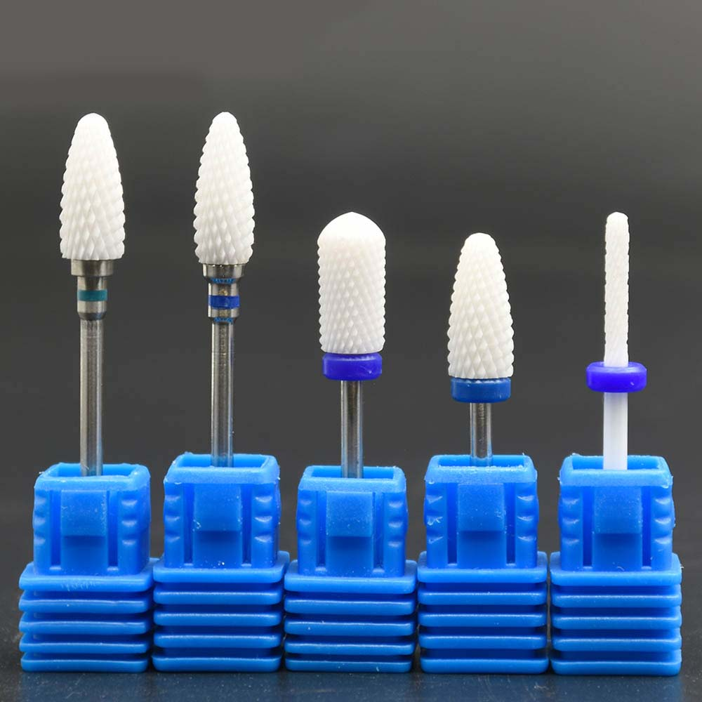 Ceramic Nail Drill Bit Milling Cutter Bit Electric Manicure Pedicure Machine Electric Drill Accessories Nail Tools