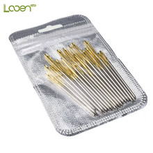 18 Pcs 5.2-7cm Blunt Gold Tail Large Eye Needles Stainless Steel Mix Size Wool Sewing Embroidery Tapestry Tool For Women
