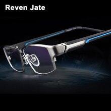 dd285d974b Gafas Reven Jate EJ267 de moda para hombre, ultraligera montura de gafas,  Flexible, IP, chapado electrónico, Material de Metal, .