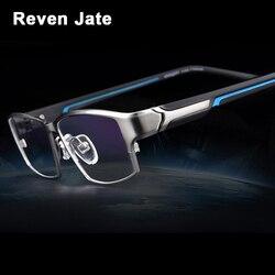 Reven Jate EJ267 di Modo Degli Uomini Degli Occhiali Telaio Ultra Leggero ponderata Flessibile Placcatura Elettronica Materiale del Metallo Cerchio Occhiali