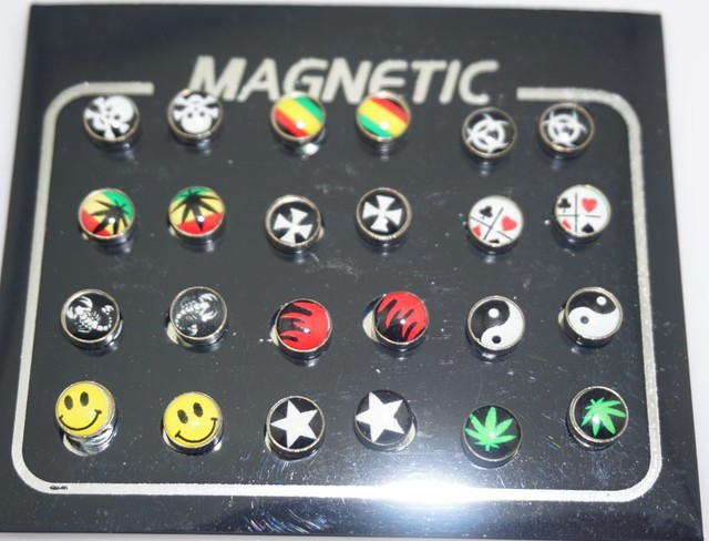 12 Pairs lot 6 8 10mm Punk Mens Strong Magnet Earring Stud Stainless Steel Magnetic No.jpg 640x640 - 12 Pairs/lot 6/8/10mm Punk Mens Strong Magnet Earring Stud Stainless Steel Magnetic No Hole Piercing Earrings Jewelry for Women