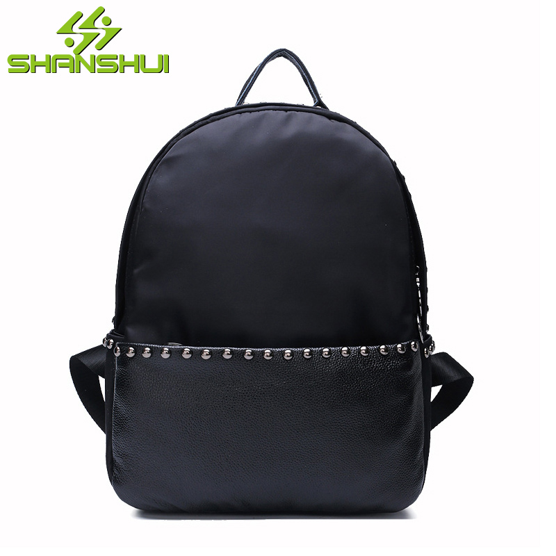 New Fashion Rivet Back Packs 2017 PU Big Capacity Backpack Women Gilrs Female Students Travel Backpacks