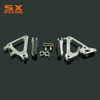 Motorcycle Silver Black Street Bike Front Foot Pegs Pedal Footrest For HONDA CBR400 CBR 400 NC23 NC 23 1988 1989 1988 1989