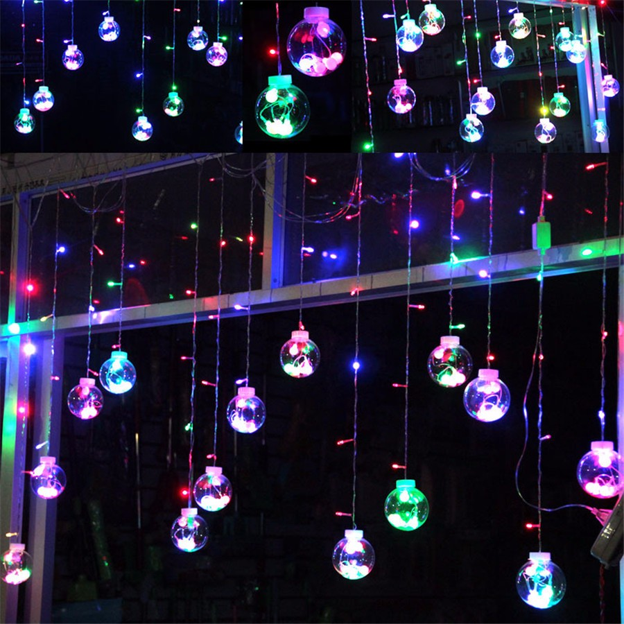 3 m de noël arbre décoratif rideau guirlandes ampoule chaîne de fées
