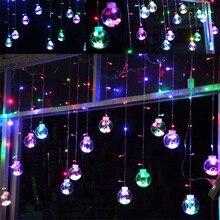 3M Рождественская елка Декоративный занавес Гирлянды луковица Фея Струнный свет Guirlande Lumineuse Led Navidad Открытый праздник