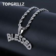TOPGRILLZ collier avec pendentif en forme de bulles pour hommes et femmes, collier à bijoux en Zircon cubique, style Hip Hop, couleur or argent glacé
