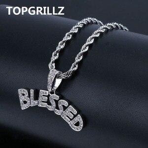 Image 1 - TOPGRILLZ collier avec pendentif en forme de bulles pour hommes et femmes, collier à bijoux en Zircon cubique, style Hip Hop, couleur or argent glacé