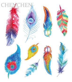 Temporary Tattoo sticker for body art Colored Feather Horse Cat Glitter Powder tatto flash tattoo fake tatoo for girl child kids art