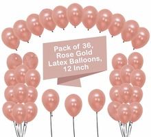 L HAHA PARTY 12 inch Rose Gold Balloons Gold Balloon Clear Balloons With Confetti Wedding Decoration