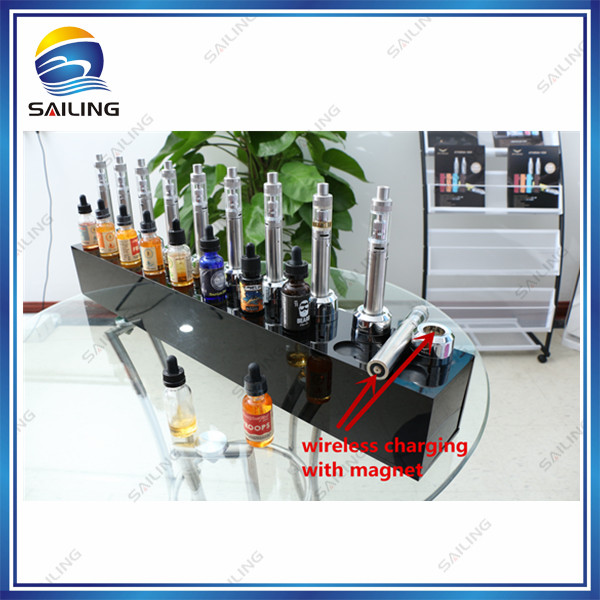 Sailing Unique Acrylic Ejuice Tester Display Station for e liquid vape store VAPEEXPO yiloong vape squonk e liquid bottle