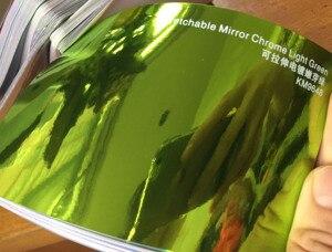 Image 5 - New Arrival High stretchable mirror light green Chrome Mirror flexible Vinyl Wrap Sheet Roll Film Car Sticker Decal Sheet