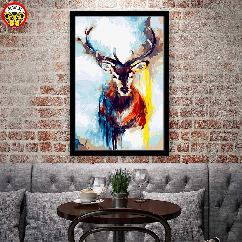 painting by numbers art paint by number Soul Deer Beast Watercolor Sensation Acrylic Painting Aristocrat Prestige Decorative paipainting by numbers art paint by number Soul Deer Beast Watercolor Sensation Acrylic Painting Aristocrat Prestige Decorative pai