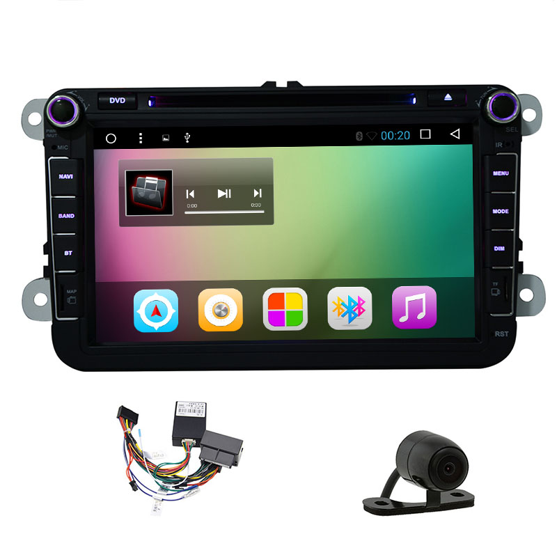 "Android 6.0 CAR RADIO for 8""VW Golf MK5/MK6 SKODA SEAT Android 6.0 2 DIN Car Head Unit GPS Sat-Nav DAB+/DVR SWC RDS SD BT"