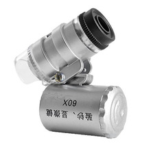 Mini 60x Handheld Microscope Loupe Currency Detecting with L