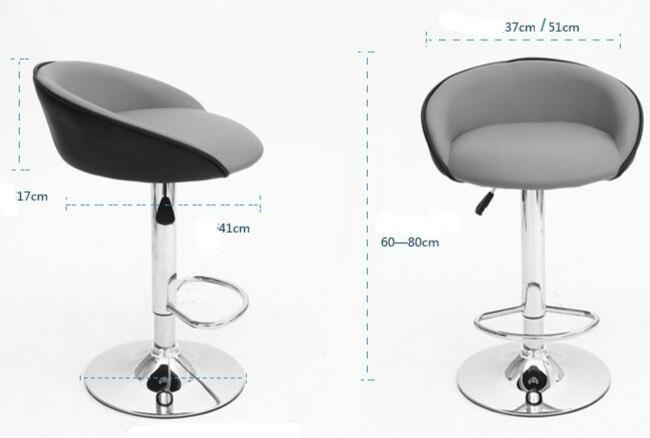 Girevole sedia bar sgabello da bar regolabile in altezza di