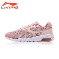 Li-Ning Malha Sapatos de Caminhada das Mulheres Bolha Up Malha Clássico Verão Almofada Respirável Calçados Esportivos Tênis Forro AGCM046