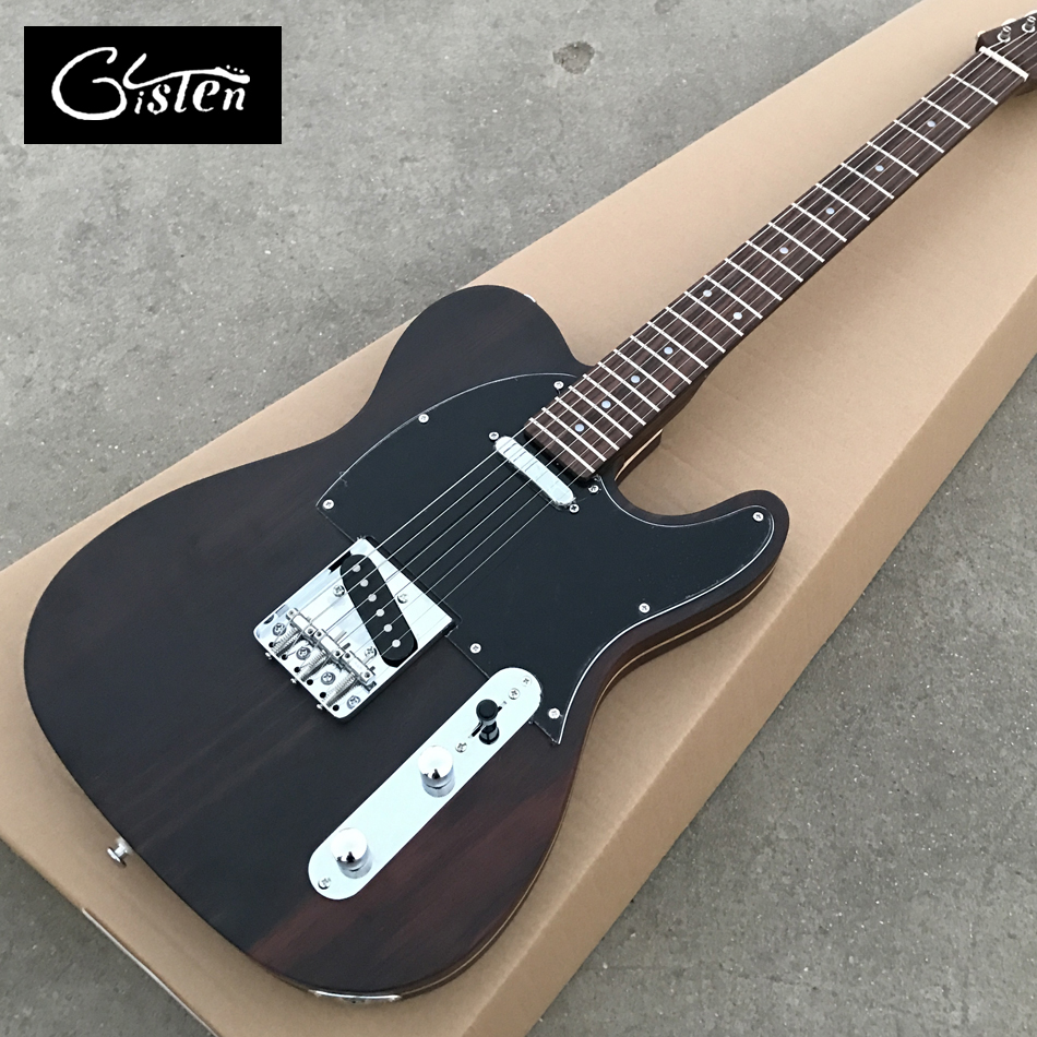 New style high quality customized tele electric guitar, Rosewood Fingerboard, mahogany body guitar, free shipping  цена и фото
