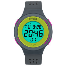 SYNOKE Multi-Function 50M Waterproof Watch LED Digital Doubl