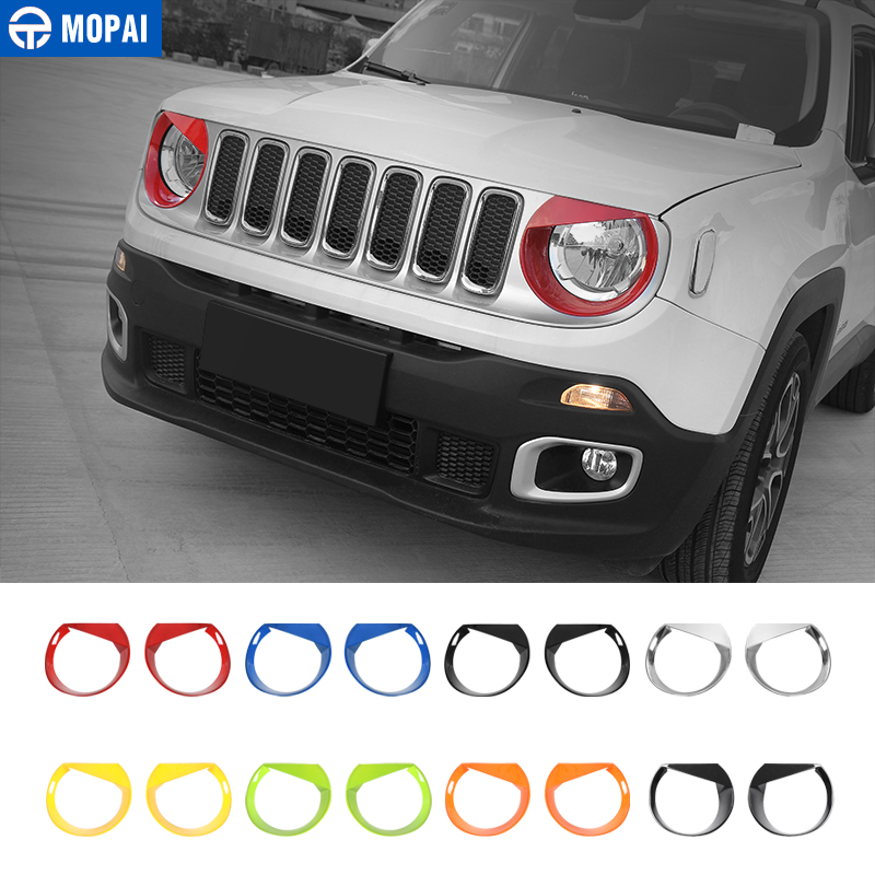 MOPAI Car Front Head Light lamp Decoration Cover Stickers for Jeep Renegade 2015 Up ABS Exterior Car Accessories Styling-in Lamp Hoods from Automobiles & Motorcycles