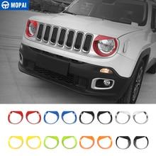 Mopai Auto Front Head Light Lamp Decoratie Cover Stickers Voor Jeep Renegade 2015 Up Abs Exterieur Auto Accessoires Styling