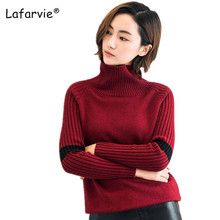 Lafarvie Turtleneck Winter Knitted Sweater Women Long Sleeve Loose Thick Pullover Female Soft Warm Autumn Casual jumper