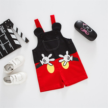 купить Baby Cartoon Overalls Casual Pants Kid Strap Pants Spring Summer Shorts Rompers  Toddler Boy Girl Jumpsuits Children's Clothes дешево
