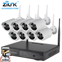 ZILNK 960P 8CH Plug And Play Wireless NVR Kits P2P Outdoor Waterproof IR Security Surveillance IP