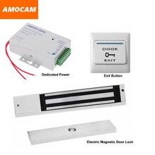 NC Electric Magnetic Door Lock + Power Supply box for Door Access Control System Video doorbell +Door Exit Button Switch