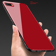 Tempered glass Case for OPPO K1 Mirror Surface Glass Back Cover Soft Bumper OPPOK1