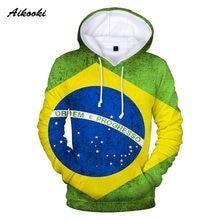 Bandeira Brasil Aikooki 3D Hoodies Camisola Das Mulheres Dos Homens Com  Capuz 3D Patriótico Com Capuz 2d0cbe1b29b