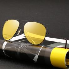 Gafas de visión nocturna para conductor para hombre, lentes de conducción antideslumbrantes, protección UV, gafas de sol polarizadas