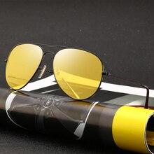 Gece Görüş gözlüğü Sürücü Gözlük Araba Parlama Önleyici sürüş gözlükleri UV Koruma Gears Polarize Güneş Gözlüğü Erkekler