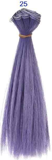 Bjd haar 15 cm * 100 CM blauw groen paars kleur korte rechte haar voor 1/3 1/4 BJD diy pop rechte pruiken