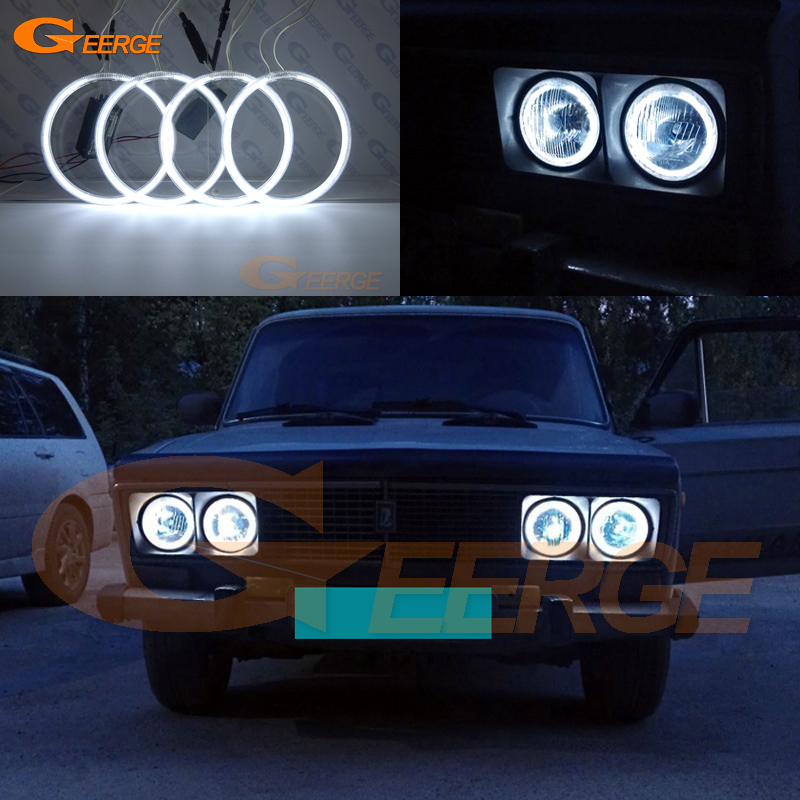 For Lada <font><b>Vaz</b></font> <font><b>2106</b></font> 1976 1997 1998 1999 2000 2001 Excellent NEW Ultra bright illumination CCFL Angel Eyes kit Halo Ring image